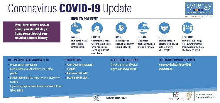 HSE Updated Infographic on Covid - 19