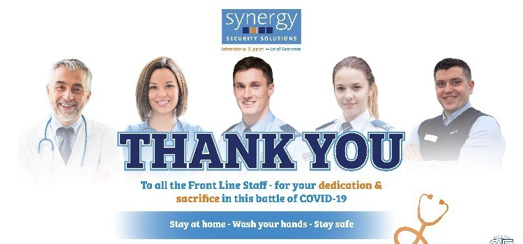 Thank You -  ALL Front Line Staff